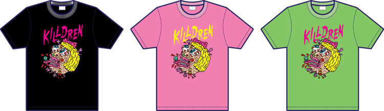 Killdren icon design t-shirt mockups